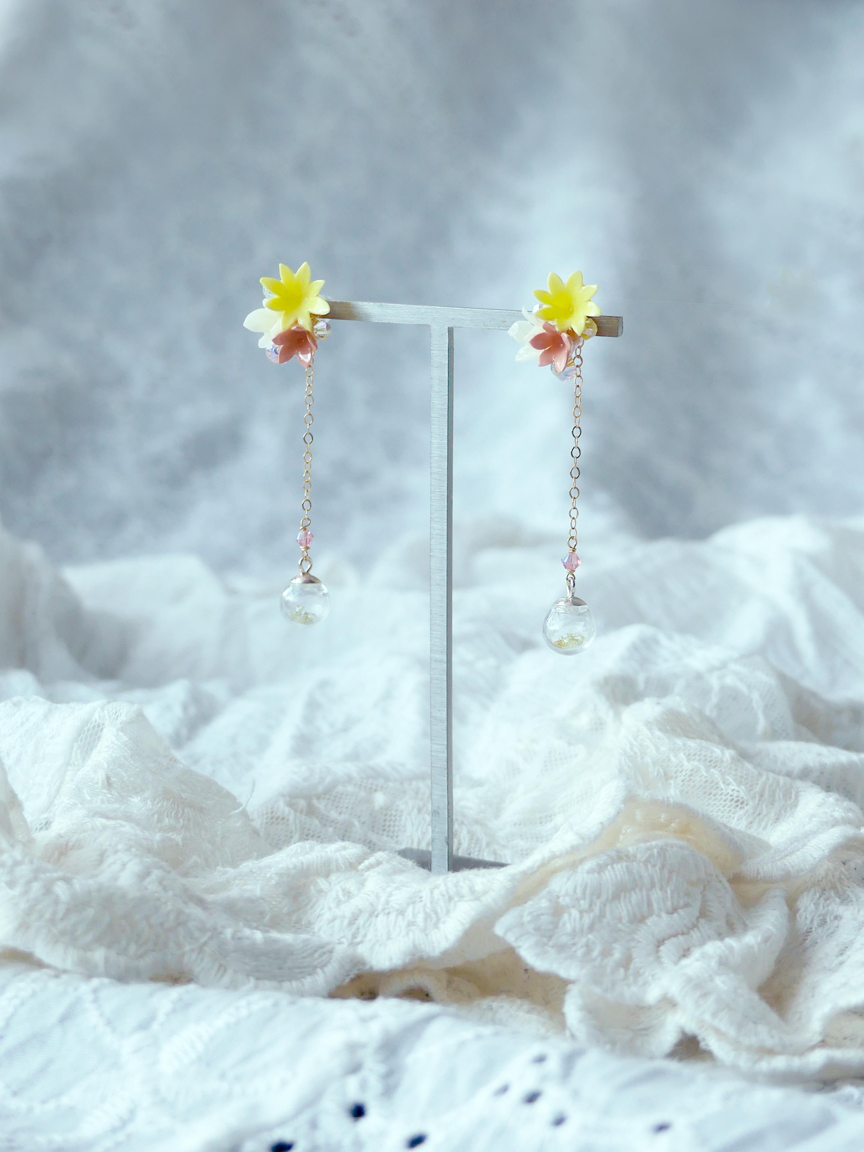 2-Way Handcrafted Floral Earrings Workshop - WELLNESS - K11
