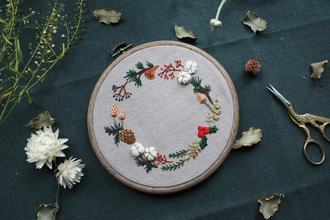 Christmas Wreath Embroidery Workshop  - K11 Art Infinity - K11